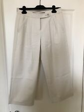 ESCADA SPORT Capri Pants Ivory Cotton Wide Leg Size 36