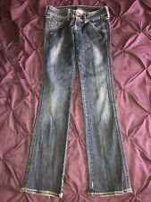 Ladies Guess Premium Jeans W28 L32 Flare Selvedge