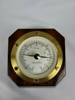 Vintage Brooks Brothers Small Barometer Brown Gold Made In Germany