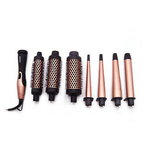 Amika Blowout Babe Interchangeable Thermal Brush + Curling Iron   7x Barrels Set