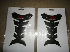 2x -3D Gel Fuel/Gas Tank Protector Decal/Sticker Carbon Look -Suzuki GSX-R -2nds