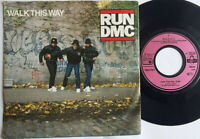"RUN DMC / Walk This Way 7"" Single Vinyl 1986"