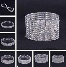 Fashion Sparkly Full Crystal Rhinestone Bracelet Bangle For Women UK Seller