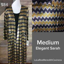 Medium Elegant Sarah by LuLaRoe. Full length Cardigan. Mardi Gras Colors!