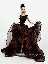 Eaki Evening Chiffon Dress Outfit Gown Silkstone Barbie Fashion Royalty Candi FR