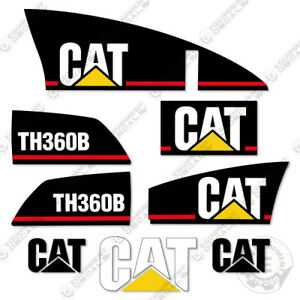 Caterpillar TH360B Decals Reproduction Telescopic Forklift Equipment Decals