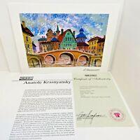Anatole Krasnyansky Devon Carnishe - England Seriolithograph  Signed COA
