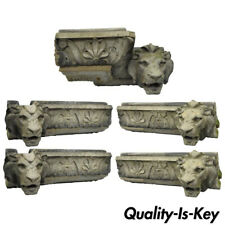 19th C. Terracotta Lion Head Regency Style Building Garden Architectural Element