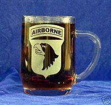 US Army 101st Airbourne etched 20oz Beer/Coffee Mug