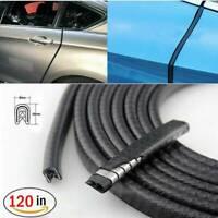 "120"" Car Door Edge Seal Trim Pinch Weld Sharp Edging Rubber Strips Weatherstrip"