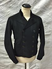 Antique Jacket Wool Double Breasted 1910 Jacket Edwardian Pea Coat Early Sz S 38