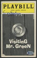"""ELI WALLACH signed """"Visting Mr. Green"""" Playbill - AUTOGRAPH - BAS (Beckett) cert"""