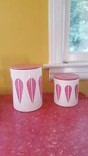 Cathrineholm Pink Lotus Canisters by Lucie Kaas