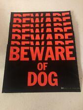 """7 pcs. Beware Of Dog 10.5""""x 7"""" Warning Sign Beware Of Dog Guard Dog Security Dog"""