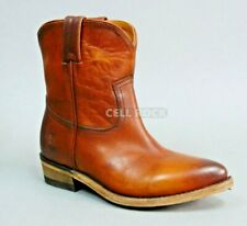 Frye Billy Short Leather Ankle BOOTS Cognac Brown BOOTS Size 6 M