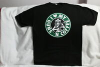 I LOVE MY GUNS AND COFFEE AR15 RIFLE STARBUCKS PARODY BLACK T-SHIRT SHIRT