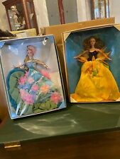 Sunflower Barbie Vincent Van Gogh and Signed Water Lily Barbie Claude Monet NRFB