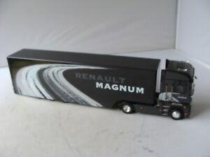 ELIGOR 1/43 RENAULT MAGNUM WITH TRI-AXLE BOX TRAILER - EXCELLENT - L@@K!!