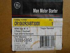 GE CR1062R2ABT3000 MAN MOTOR STARTER; 2-P,  1 OVERLOAD--NEW!!!