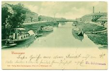 1899 Timisoara Temesvár Motored Boats on  Bega Channel,v.rare postcard