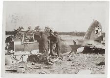 Abgeschossene Vultee. Orig-Pressephoto von 1941