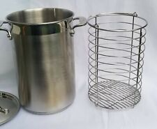 All Clad Stainless Steel Asparagus Steamer Pot with Basket and Lid