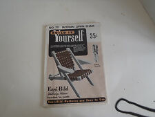 A modern Lawn Chair Plans How to  Build Your Own full size plans sealed package