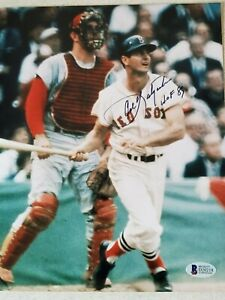 Carl Yastrzemski HOF 89 Signed Autographed 8x10 Photo 1989 Beckett BAS COA