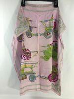 "Scarf Square 28"" Lavender Steampunk Shabby Victorian Chic Equestrian"