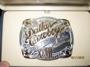 Dallas Cowboys Limited Edition Commemorative Belt Buckle Super Bowl 27 Champions