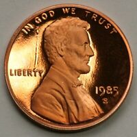 1985 S Lincoln Memorial Cent Gem DCAM Proof Penny US Coin Die Gouge Error