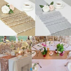 Sequin Table Runner Tablecloth Shiny Bling Placemat Home Wedding Party Decor