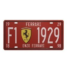 Classic Ferrari Car License Plate Embossed Metal Poster Tin Sign Wall Decor