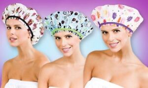 Betty Dain THE FASHIONISTA Lining Shower Cap - DIVA #5200,  SASSY STRIPES #5210