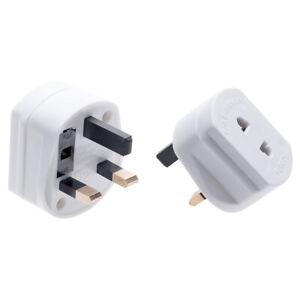 UK 2 Pin Toothbrush/Shaver to 3 Pin Adaptor Plug Socket Converter 1A Fuse