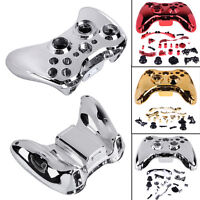 Chrome Full Shell Case Cover Button Replacement for XBOX 360 Wireless Controller