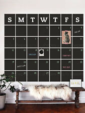 Chalkboard Calendar Wall Decal - Extra Large