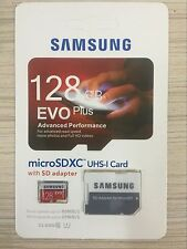 New 128GB SAMSUNG EVO Plus Class 10 80MB/s Micro SDXC Memory Card UHS-I Sealed