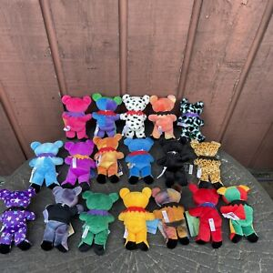 Lot Of 18 Grateful Dead Plush Bears Liquid Blue - NEW WITH TAGS
