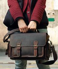 Men Leather DSLR SLR Camera Bags Case for Nikon Canon Messenger Shoulder Bag