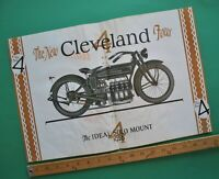 1926 Cleveland Four Motorcycle Brochure Poster Catalog Motorcycle Illustrated