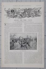 1901 PRINT 13th APRIL SPORT IN THE NAVY by VICE ADMIRAL WILLIAM KENNEDY