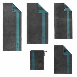 JOOP! Handtücher Infinity Doubleface Graphite 1678 74 Duschtuch Handtuch Streife