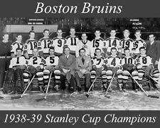 BOSTON BRUINS 1938-39 STANLEY CUP CHAMPIONS NHL HOCKEY 8X10 PHOTO