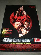 WHAT TO DO IN CASE OF FIRE - ORIGINAL ROLLED DS POSTER - 2002