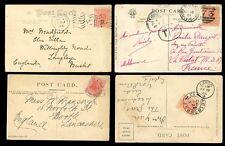Australia States PPCs Victoria x3 W. Aus. x2 variety postmarks mainly to GB