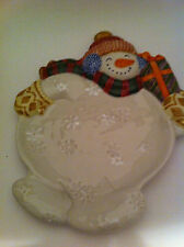 Fitz and Floyd frosty folks cnape plate snowman plate holiday decor serving