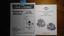 """Cub Cadet 20"""" Side Discharge Rotary Mower 072 Owner's Operator's & Parts Manual"""