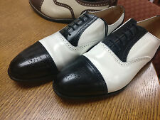 Peal & Co. Black and White Captoe Spectator Shoes