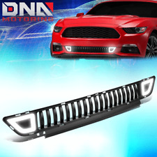 FOR 2015-2017 FORD MUSTANG FENCE MESH FRONT LOWER BUMPER GRILLE GRILL W/ LED DRL